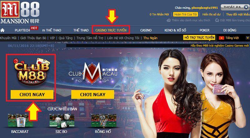 Nhà cái uy tín chơi Casino trực tuyến
