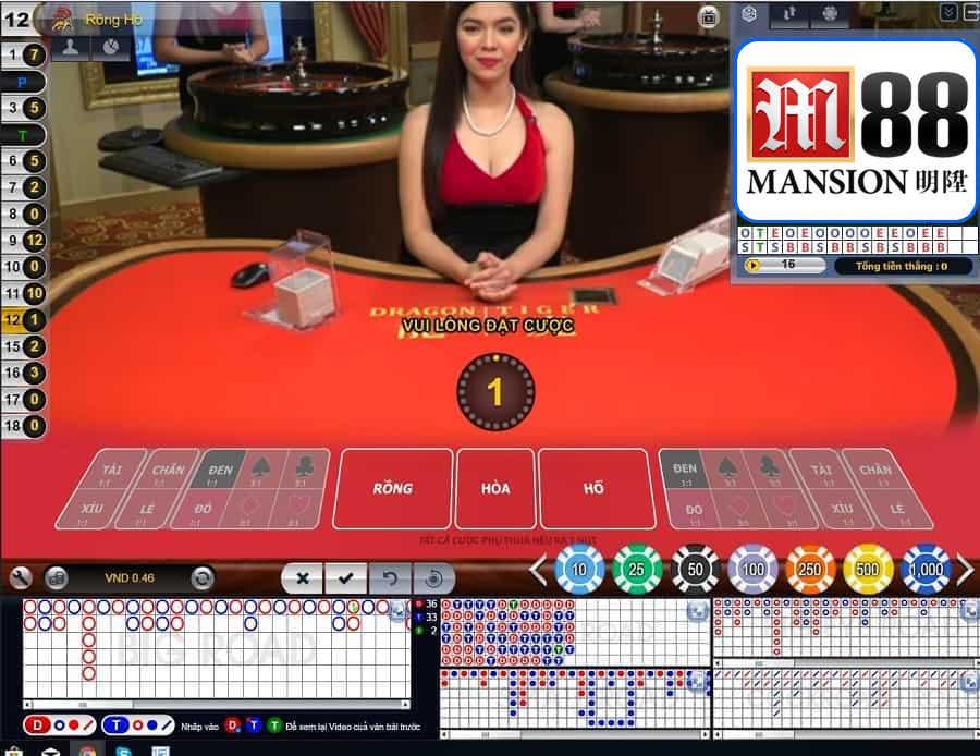 Hướng dẫn chơi bài Rồng Hổ tại M88 casino