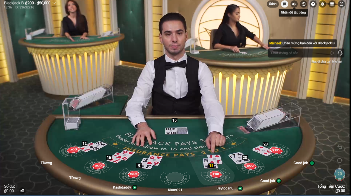 M88 sòng casino online blackjack chuyên nghiệp hàng đầu Việt Nam