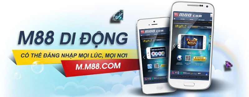 M88 cho điện thoại - tiện ích giúp người chơi truy cập M88 mọi lúc, mọi nơi.